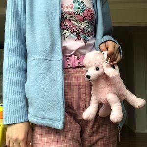 y2k mini pastel pink poodle hand bag ☆